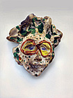Mask No. 40. Red & Yellow Goggles & Green Dots