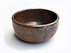 Rust Tea Bowl w/ Black Speckles